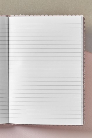 Pink Leather Look Notebook