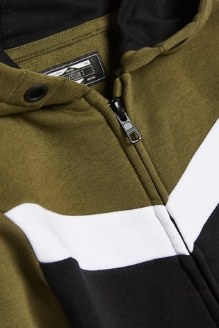 Khaki Set Colourblock Jersey (3mths-7yrs)