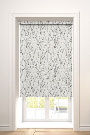 Delicate Willow Silver Grey Made To Measure Roller Blind
