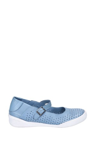 Hush Puppies Blue Bailey Buckle Strap Summer Shoes