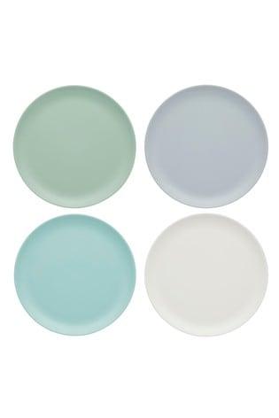 Set of 4 Kitchencraft Colourworks Classic Melamine Side Plates