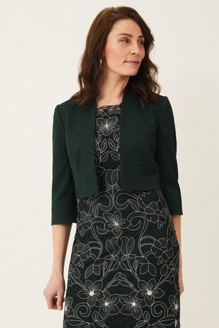 Phase Eight Green Seraphina Textured Jacket