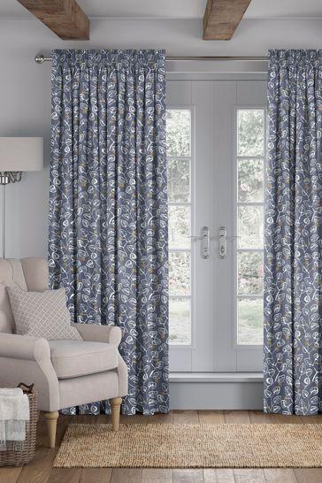 Denim Blue Leya Made To Measure Curtains