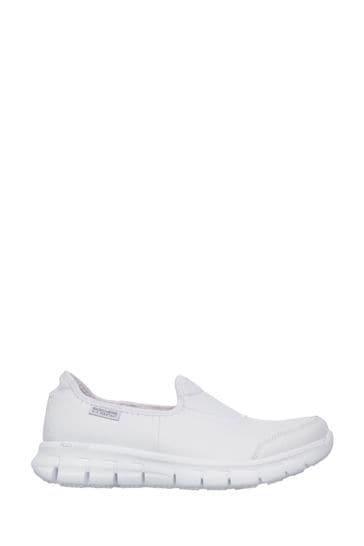 Skechers® Sure Track Slip Resistant Slip-On Work Shoes