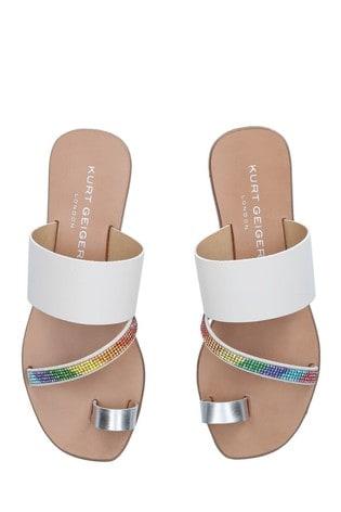 Kurt Geiger London Cream Dawn Rainbow Sandals