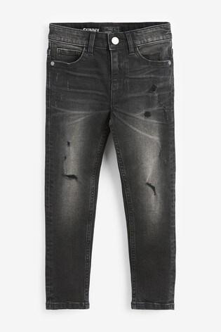 Black Skinny Fit Distressed Jeans (3-16yrs)