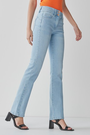 Bleach Lift, Slim And Shape Boot Cut Jeans