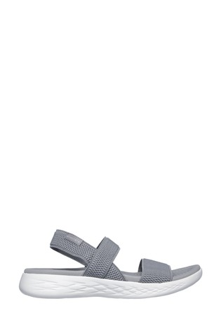 Skechers® Grey On-The-Go 600 Flawless Sandals