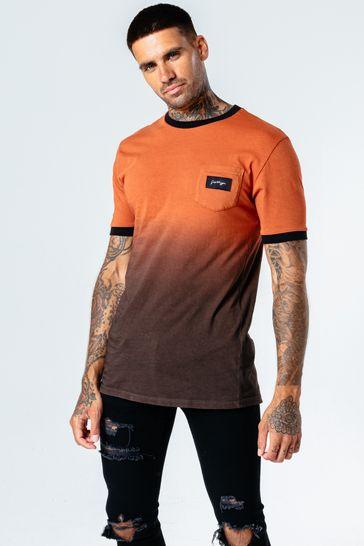 Hype. Mens Brown Brick Fade T-Shirt