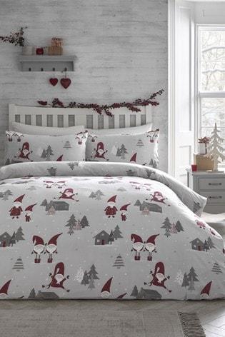 Fusion Christmas Gonks Duvet Cover and Pillowcase Set