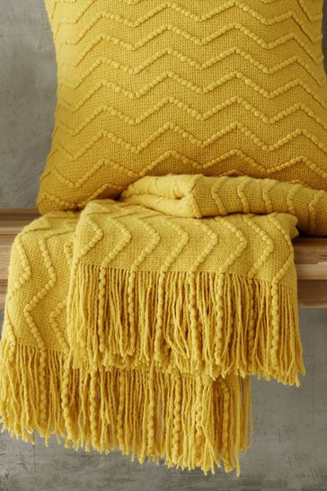 Chevron Knit Throw by Catherine Lansfield