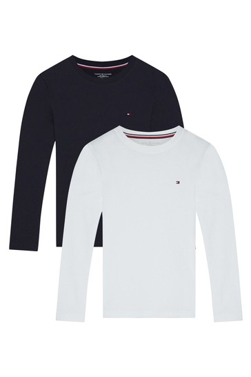 Tommy Hilfiger Blue Long Sleeve T-Shirts 2 Pack