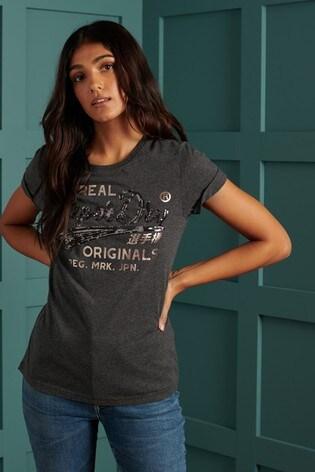 Superdry Script Sequin T-Shirt