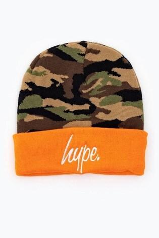 Hype. Orange Jungle Camo Beanie