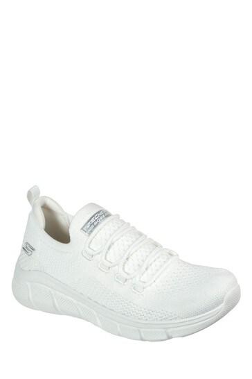 Skechers® White Bobs B Flex Trainers