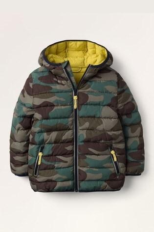 Mini Boden Khaki Cosy Pack-Away Jacket