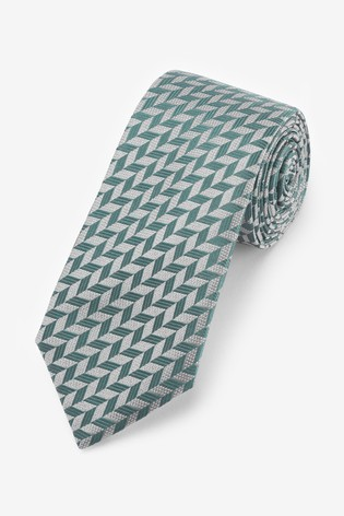 Mint Signature Geometric 'Made in Italy' Tie