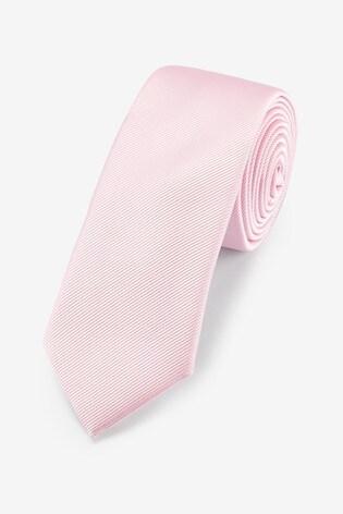 Bright Pink Slim Twill Tie