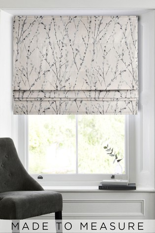 Willow Grey Made To Measure Roman Blind