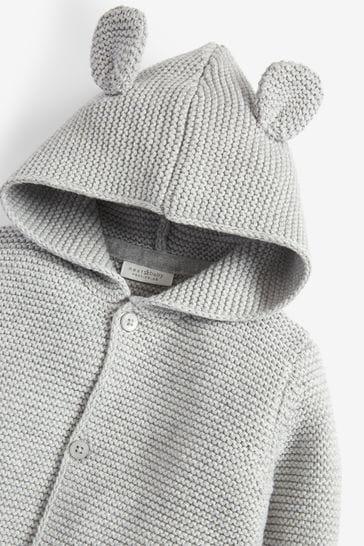 Grey Knitted Bear Cardigan (0mths-3yrs)
