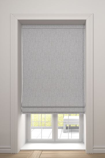 Sayeh Fog Grey Made To Measure Roman Blind