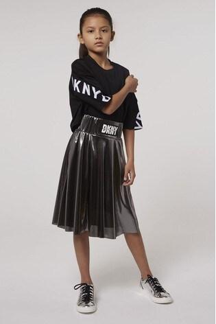 DKNY Grey Metallic Skirt