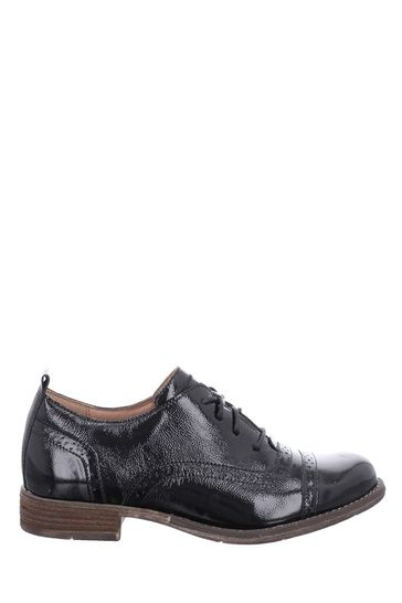 Josef Seibel Black Sienna Leather Brogue Shoes