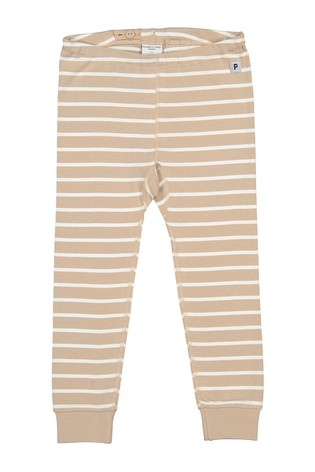 Polarn O. Pyret Natural Organic Cotton Stripe Trousers