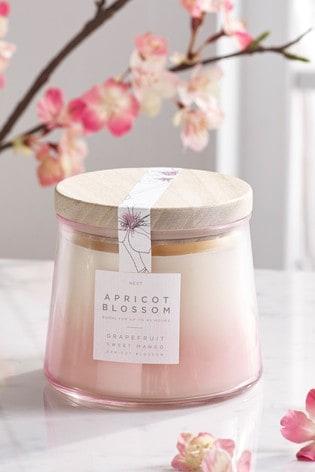 Apricot Blossom Lidded Jar Candle