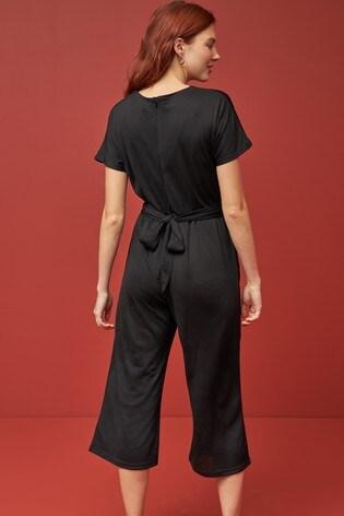 Black Twist Jumpsuit
