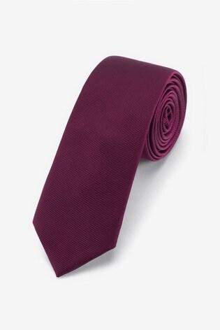 Burgundy Slim Twill Tie