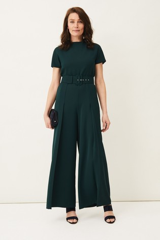 Phase Eight Green Mylee Belted Jumpsuit