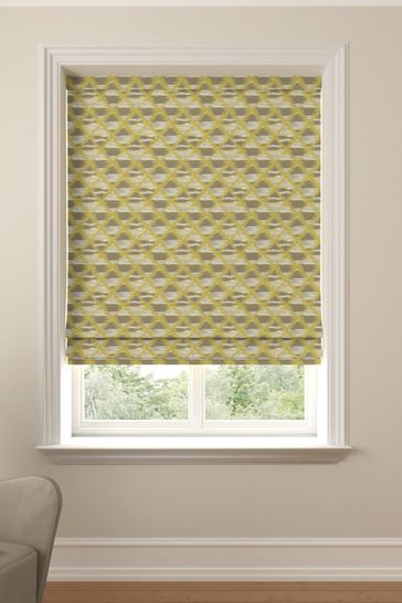 Sunflower Yellow Souky Made To Measure Roman Blind