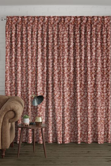 Leya Terracotta Orange Made To Measure Curtains