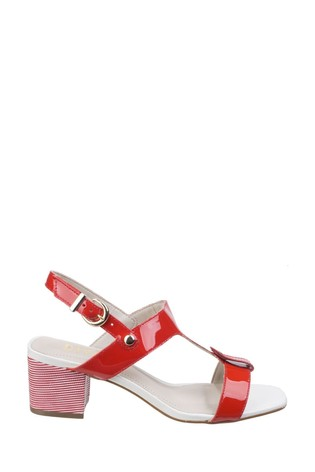Riva Red Hot Heels Fabia T-Bar Mule Sandals