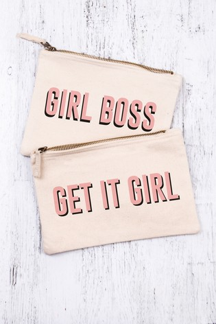 Personalised Girl Boss Cosmetic Bag by Loveabode
