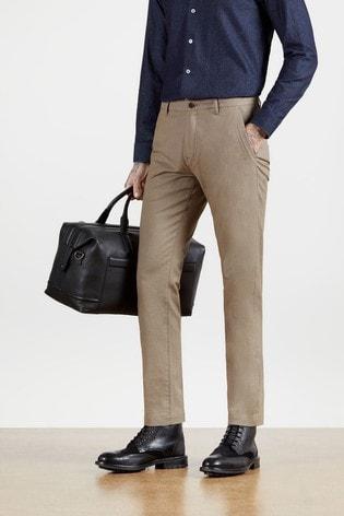Ted Baker Cream Retinol Semi Plain Trousers