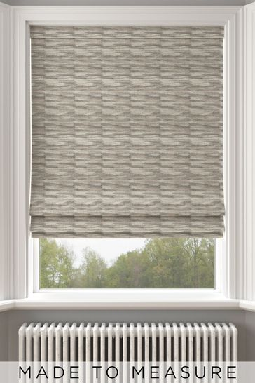 Clio Fog Grey Made To Measure Roman Blind