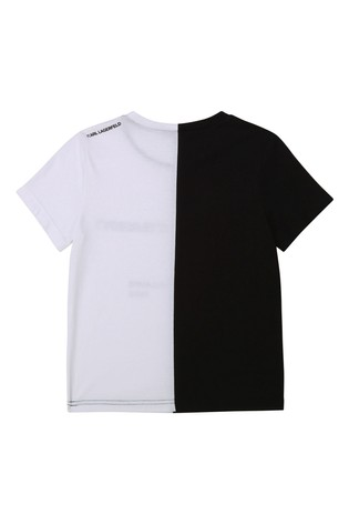 Karl Lagerfeld Black & White Distorted Logo T-Shirt