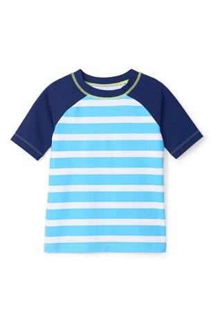 Hatley Blue Stripe Short Sleeve Rashguard