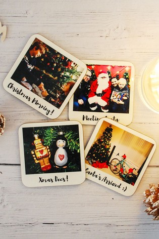 Personalised Set of 4 Photo Coasters by Instajunction