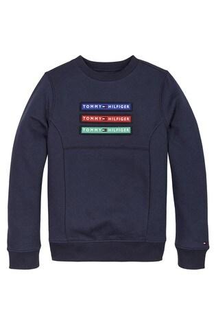 Tommy Hilfiger Blue Velcro Badge Sweatshirt