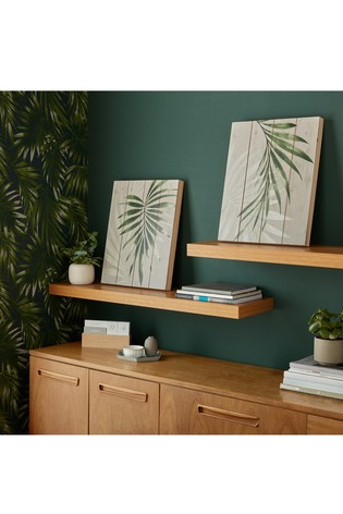 Set of 2 Peaceful Palm Leaves Canvases by Art For The Home