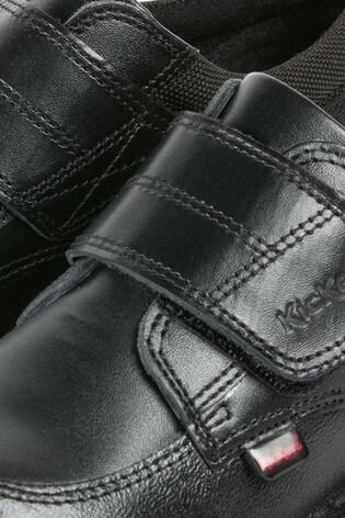 Kickers® Black Kick Scuff Low Shoes