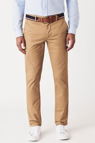 Crew Clothing Company Tan Straight Chinos