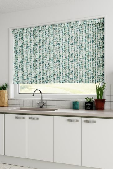 Erica Teal Blue Made To Measure Roller Blind