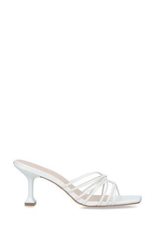 Carvela White Greet Heeled Sandals