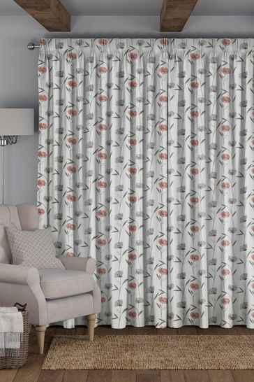 Izzy Coral Pink Made To Measure Curtains