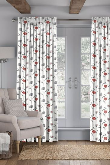 Izzy Red Made To Measure Curtains
