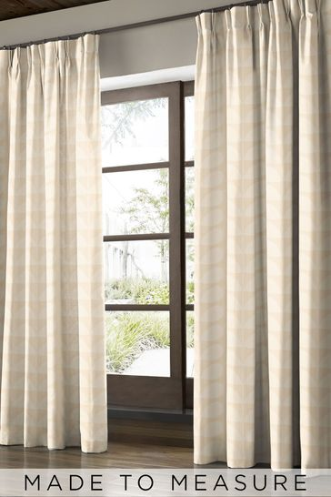 Jacquard Stem Cream Made To Measure Curtains by Orla Kiely
